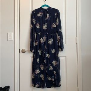 Navy and Ivory Floral Print Dress from Target